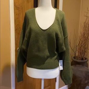 Free People V-neck slouchy sweater